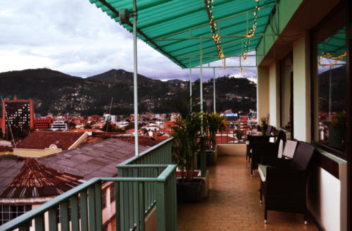 Terrace view to modern side of Cuenca